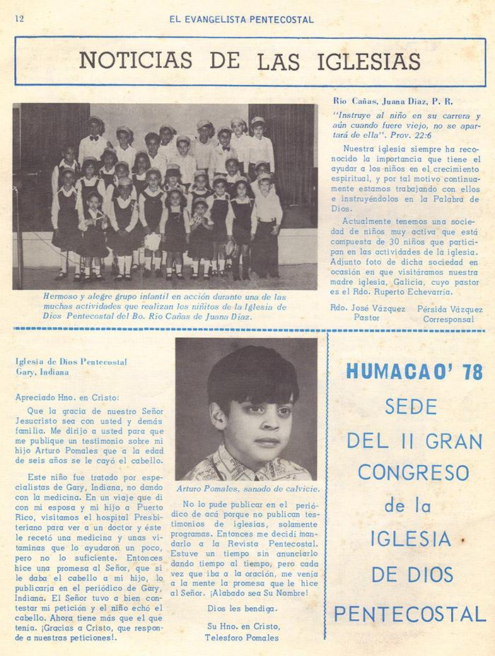 El Evangelista Pentecostal (Mayo 1978)-#5 parte 2 Página 12