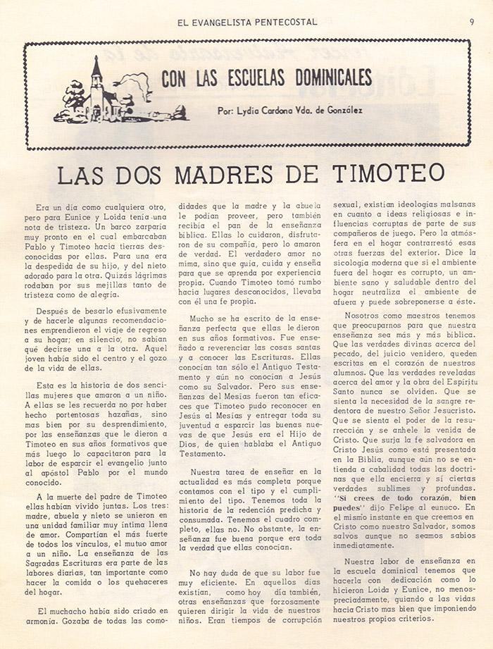 El Evangelista Pentecostal (Mayo 1978)-#5 parte 2 Página 8